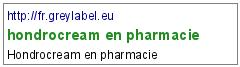 hondrocream en pharmacie