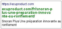 https://ecuproduct.com/fr/snoran-plus-une-preparation-innovante-au-ronflement/